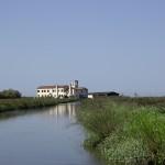 Historical Casoni on land and lagoon