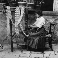 Venetian lacemaker in 1916